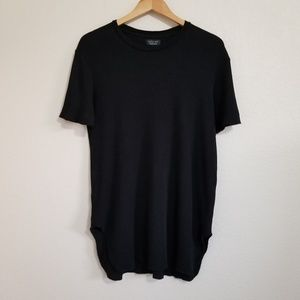 Zara Man Black Thermal T Shirt Large
